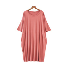 2019 Plus Size Summer Thin Nightdress For Women Modal Cotton Sleepwear Nightshirts Nightgowns Nightwear Sleepshirts
