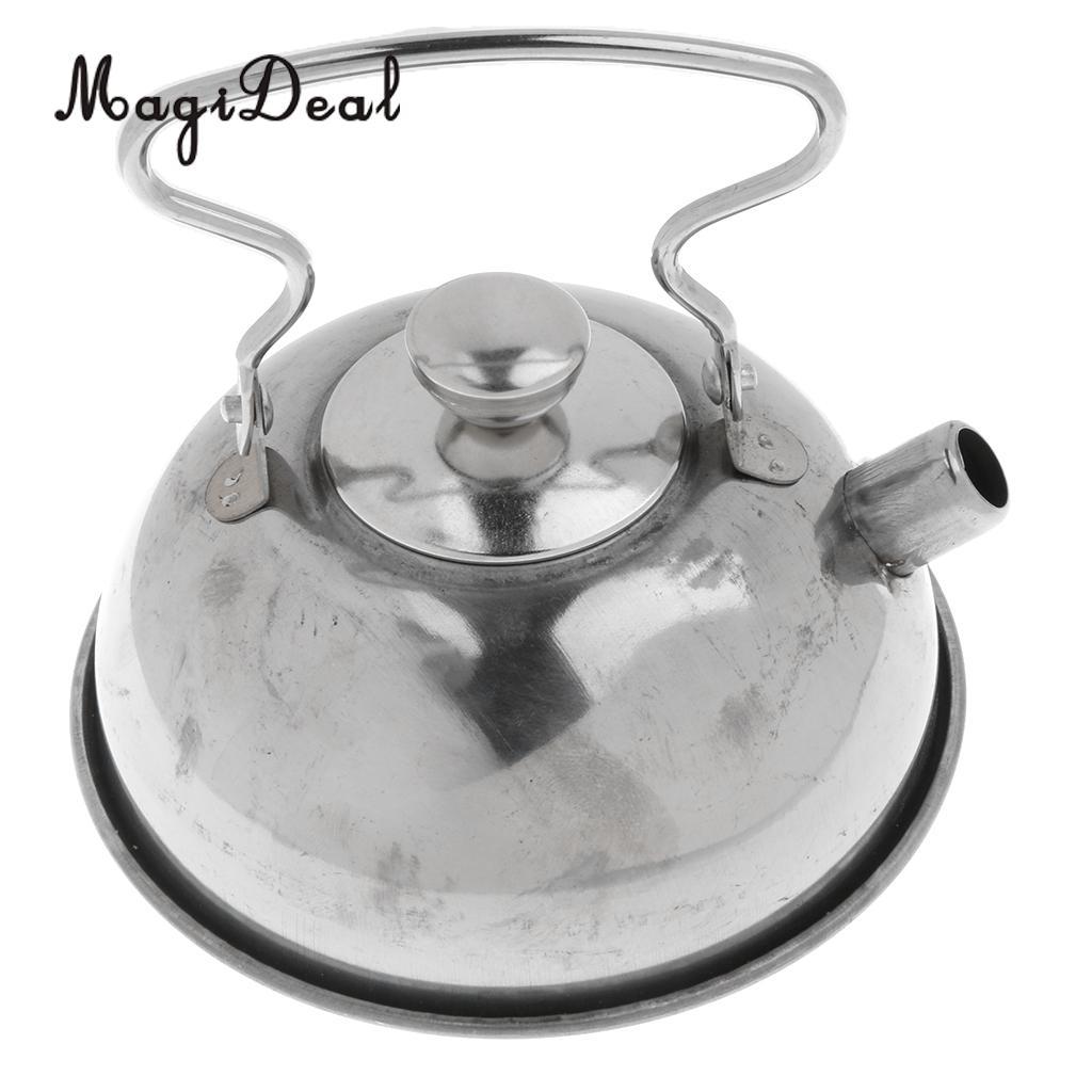 MagiDeal Hot Sale 1Set Stainless Steel Tea Kettle Kitchen Kitchen Cooking Cookware Kids Children Pretend Play Toy