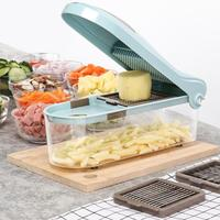 Multifunction Vegetable Cutter Slicer Dicer with 3 Blades Manual Potato Peeler Carrot Grater Kitchen Accessories Kitchen Tools