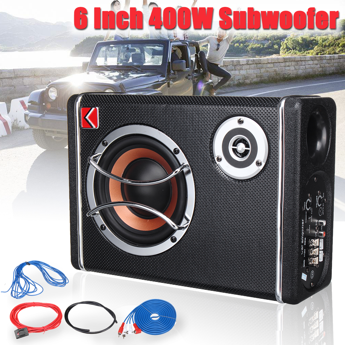 6 Inch 400W 12V Active Powered Car Audio Subwoofer