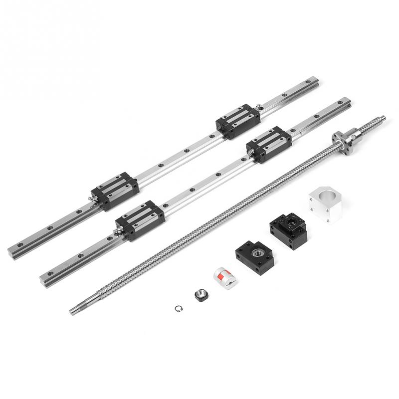 2pcsLot HGR20-1000mm Linear Guide Rail & 1pc RM1605-1000mm Ballscrew & BF12BK12 Kit