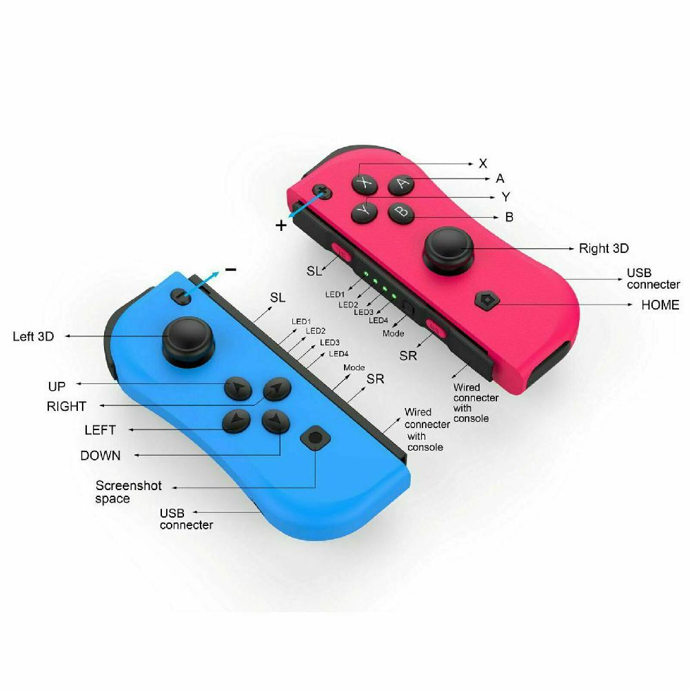 Image 4 - BEESCLOVER For NS Joy Con (L/R) Wireless Bluetooth Game Controllers Red Blue Gamepad Joystick for Nintend Switch Console r25-in Gamepads from Consumer Electronics