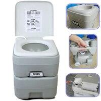 20L Портативный туалета крытый напольный унитаз мелкий комод Closestool Для Путешествия Отдых Пеший Туризм Водный туризм (белый)