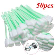 50Pcs Foam Tipped Solvent Cleaning Swab For Inkjet Printer Swabs Camera Lens(China)