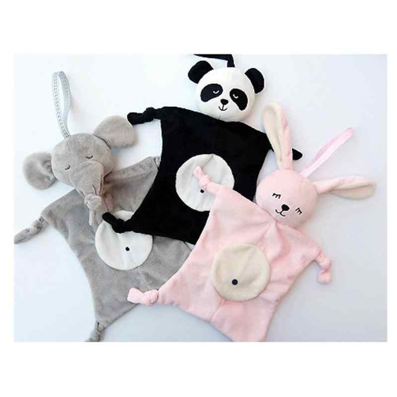 Los bebés suave comodidad toalla Panda conejo seguridad manta para bebé suave toalla