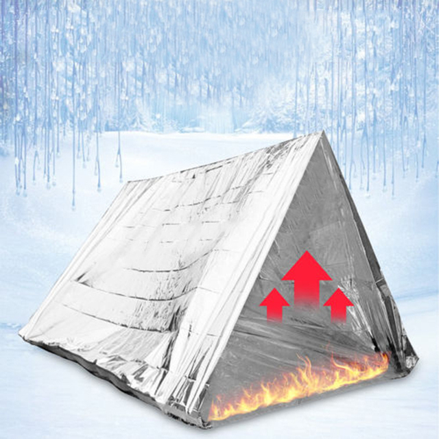 1* Tent Outdoor Emergency Tent Blanket Sleeping Survival Reflective Shelter Camping