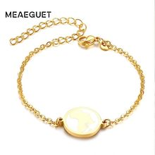 Charm Women Bracelet Stainless Steel Gold Tone African Inspired Souvenir Best Friends Bangles(China)