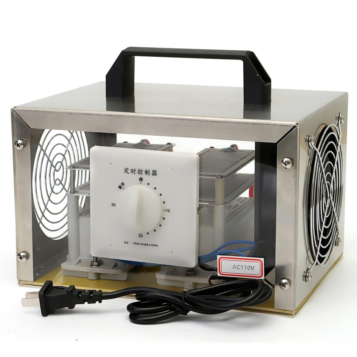 Honme автомобиля AC 110 В 20 г генератор озона дезинфекции дома машины Воздухоочистители + Сталь крышка США Plug