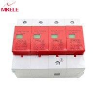 House Surge Protector Protective SPD 4P 60KA~100KA ~420VAC AC Circuit Breakers Low voltage Arrester Device