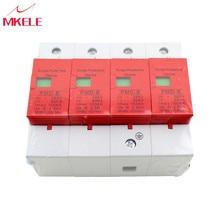 купить House Surge Protector Protective SPD 4P 60KA~100KA ~420VAC AC Circuit Breakers Low-voltage Arrester Device дешево