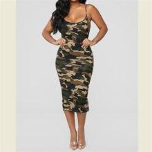 5992c44ae897a Women Summer Dresses Clothes Casual Hot Olive Green Camo Camoflage Military  Sleeveless Tank Maxi Dress Sundress Clothings S-XXL