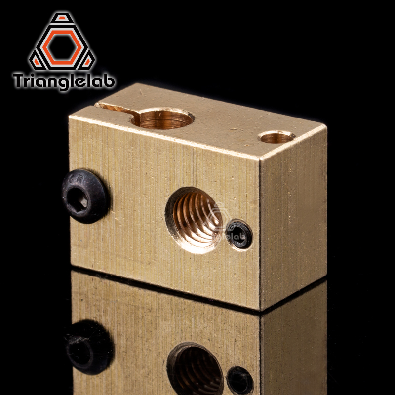 Image 5 - HQ gold heatsink v6 copper heater block hotend  J head heater block heat break NOZZLE  for E3D HOTEND for titan extruder-in 3D Printer Parts & Accessories from Computer & Office