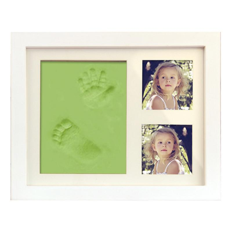 New Cute Photo Frame DIY Handprint Footprint Imprint Soft Clay Print Keepsake Ornament Cast For Baby Souvenir Set Gift