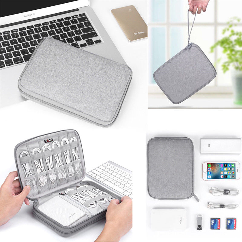 Electronic Accessories Organizer Bag Travel Cable USB Charger Storage Portable Data Cable Organizer  Storage Bags