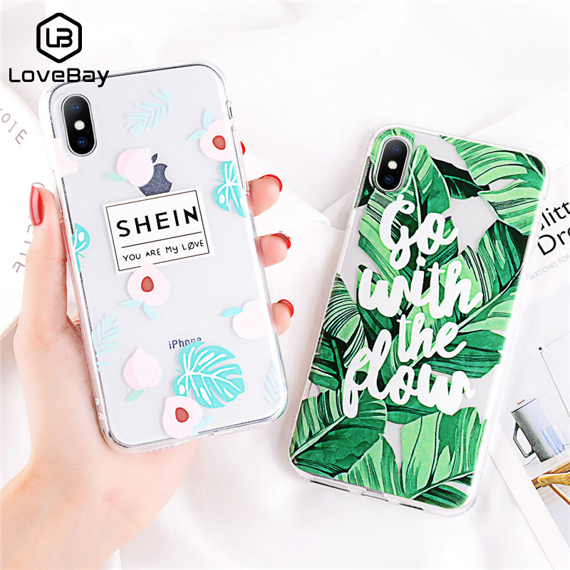 5758074bc9 Detail Feedback Questions about Lovebay Soft Plant Print Case For iphone 6  Plus 6 PlusS 7 8 X XR XS MAX TPU Silicone Leaves Green Cases Cover Funda on  ...