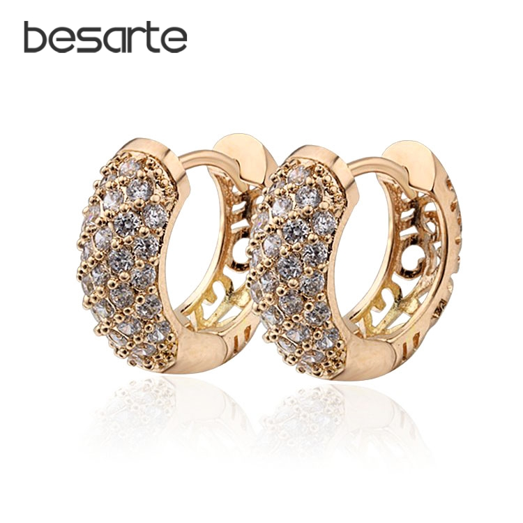 Emas Diisi Anting-Anting Hoop Earrings Untuk Wanita Brincos Ouro Argas Orecchini Oorbellen Pendientes Brincos Fashion E2149