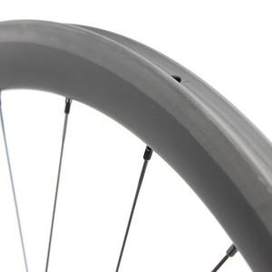 Image 5 - 1130g seulement 700C roues de vélo de route en Fiber de carbone roue de vélo tubulaire ou pneu moyeu de traction droite et 4.3g a parlé pour Clmbing
