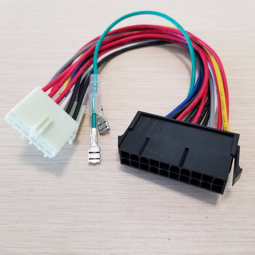 Wholesle   100pcs/lot 20Pin ATX to 2 Port 6Pin AT PSU Converter Power Cable Cord 20cm for 286 386 486 586 Old Computer-in Computer Cables & Connectors from Computer & Office