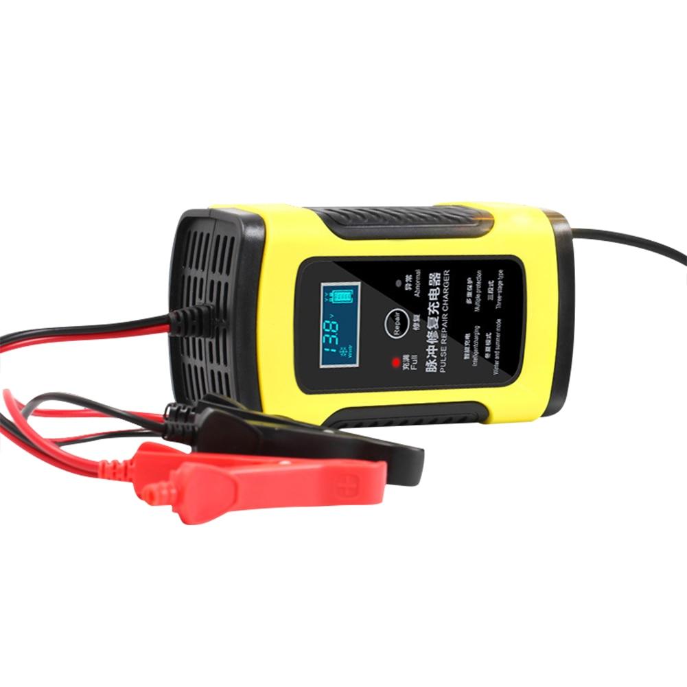 12 V 6A cargador de batería de la motocicleta del coche plenamente reparación inteligente de almacenamiento de plomo ácido cargador de Moto inteligente pantalla LCD