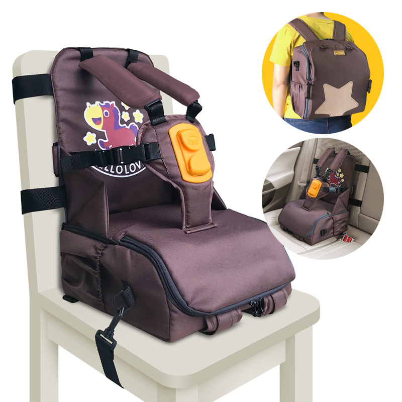 3 In 1 Multi-function For Storage & Carry & Seat Strap Adapter Kids Feeding Chair Dining Seat Baby 5 Point Harness High Chair