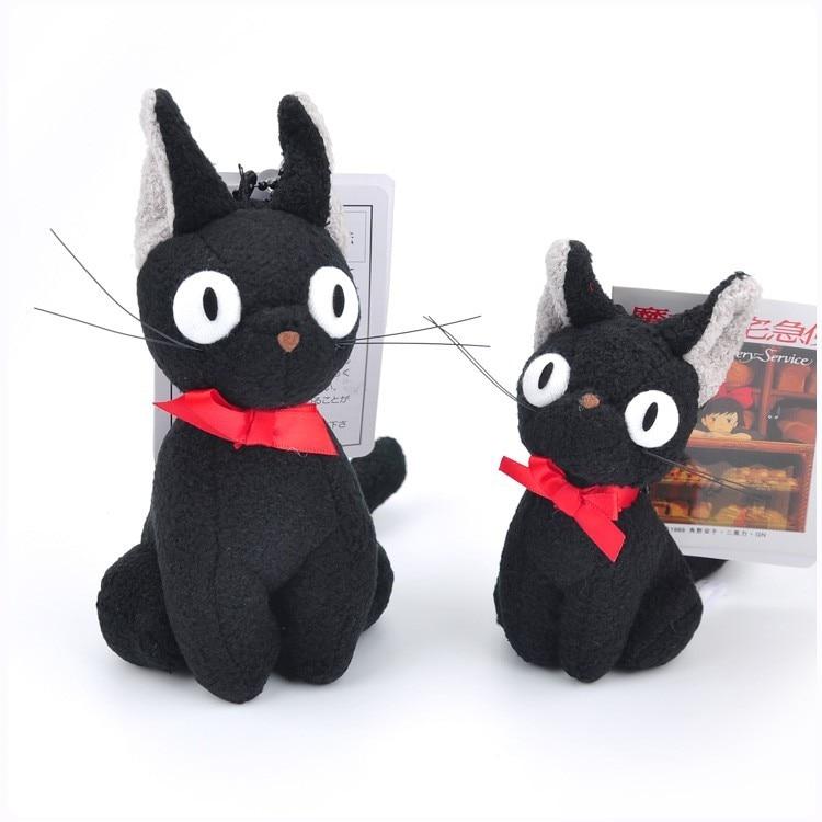 Studio Ghibli Hayao Miyazaki Kiki's Delivery Service Black JiJi Plush Toy Kawaii Black Cat Kiki Stuffed Toy Keychain Bag Pendant