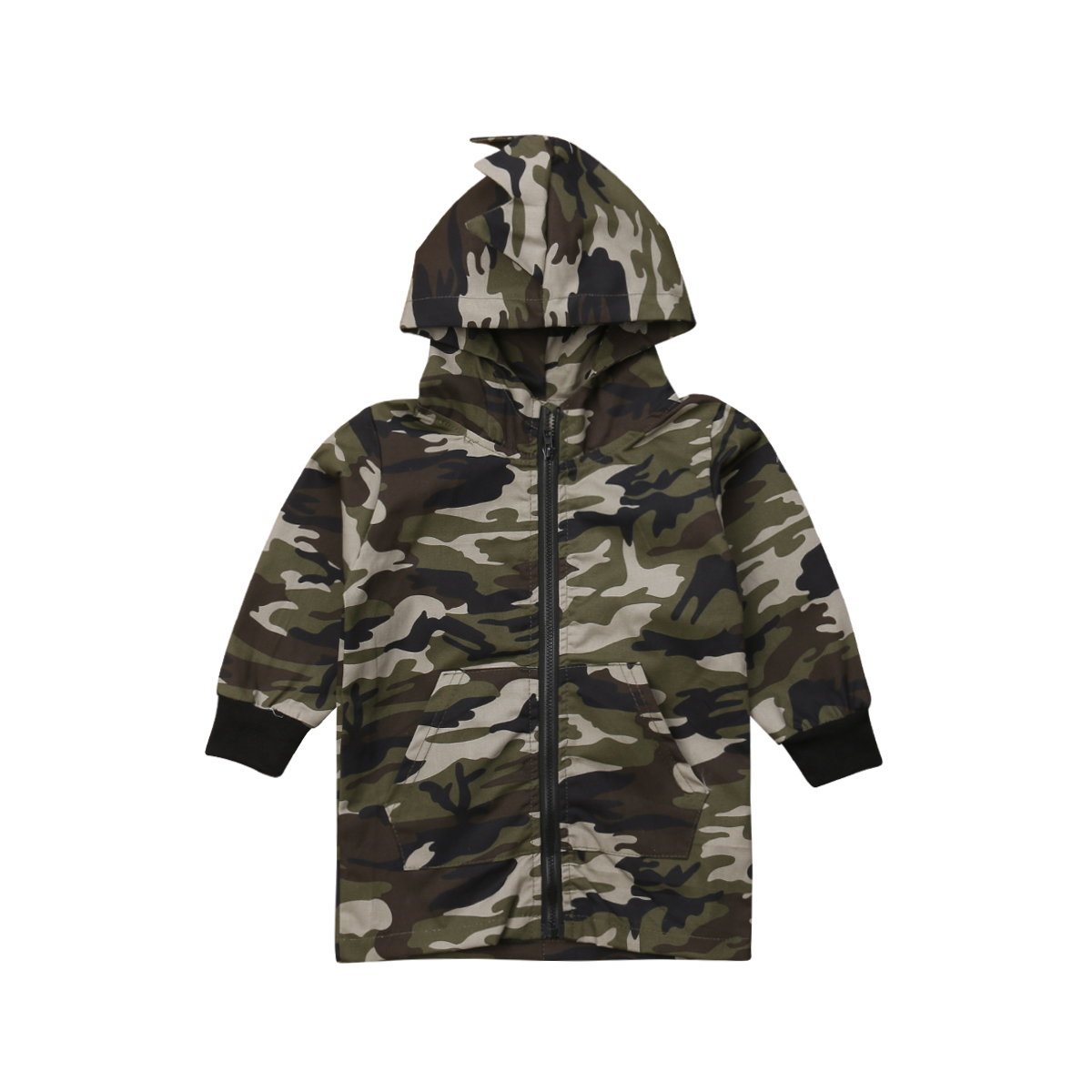 Jackets 2019 New Brand Toddler Kids Baby Boys Camouflage Dinosaur Coat  Zippers Long Sleeves Top Hooded Jackets