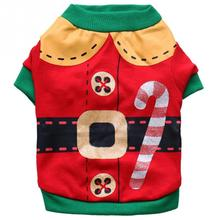 Christmas Pet Cat Puppy Autumn clothes shirt Winter Warm Pullover outfit coat Xmas apparel for kitty dogs