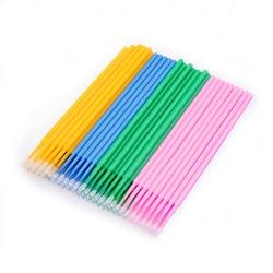 100pcs/lot Durable Disposable  micro applicators Individual Eyelash Extension Removing Swab Micro Brush Lash Removing Tools