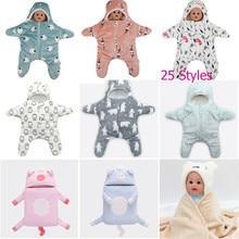 PUDCOCO милый детский спальный мешок со звездами, прогулочные коляски, теплое мягкое постельное одеяло, пеленальный зимний детский спальный мешок