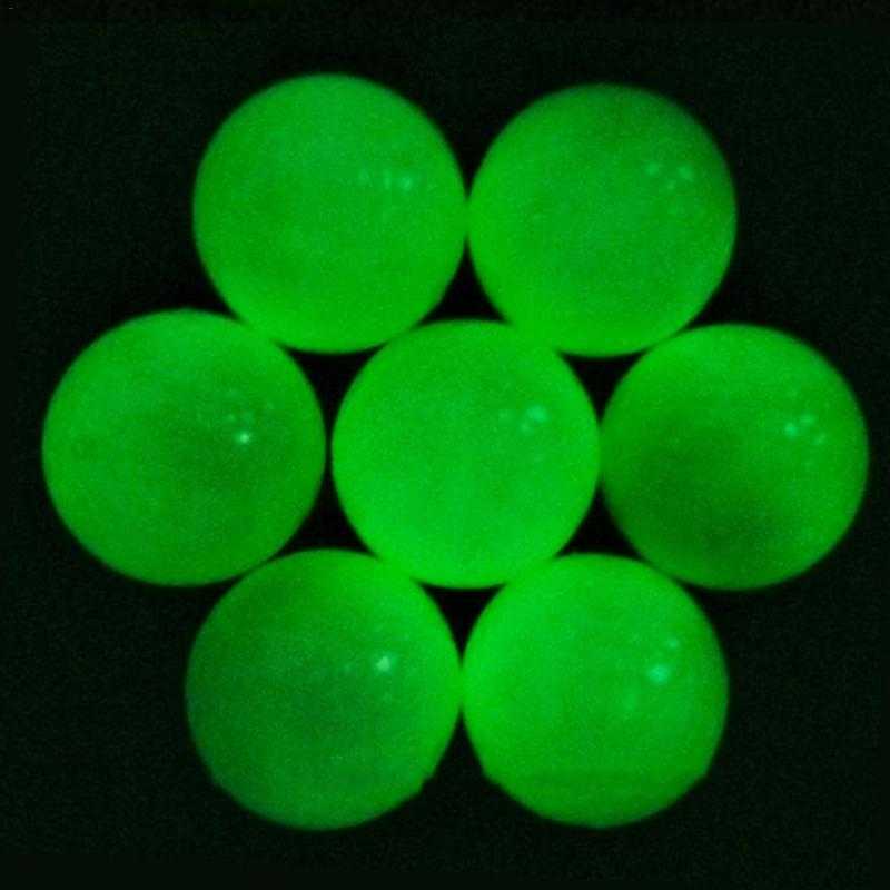 2Pcs Light-up Flashing Light Glowing Fluorescence Golf Fluorescent Night Double-Layer Balls Golfing Wholesale