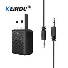 KEBIDU Mini USB Bluetooth 5.0 Transmitter Receiver 3.5mm Stereo Audio USB Music Bluetooth Adapter For Laptop Speaker