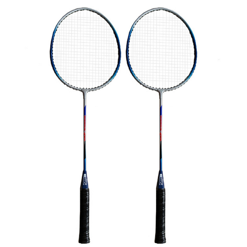1 Pair Badminton Racket Sports Training Men Women Racquet Carbon Single Double Resistant Offensive Badminton Rackets Bag