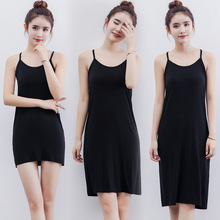 Y-shape bottoming dress backless solid lining sleeveless vest modal comfortable and breathable camisole summer mujer