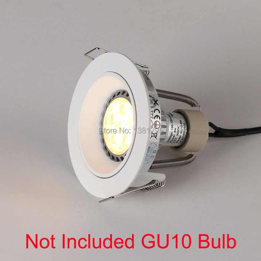 4 шт потолочные встраиваемые светодиодные фары рамка вокруг GU10 приспособление владельцев регулируемый светодиодный потолочный пятно света ГУ 10 свет баз установки