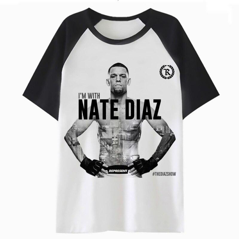 Nate Diaz T Shirt Tshirt Funny Hip Clothing Top Hop Streetwear Harajuku Male T-shirt Men Tee For H1950