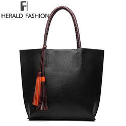 Стивен большой Ёмкость Для женщин Сумочка с Ленточки повседневные сумки качества кожаные женские сумки на плечо женские повседневные
