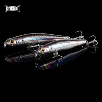 Kingdom New Slow hundimiento lápiz mar pesca señuelos 85mm 100mm duro cebos buena acción Swimbaits Wobblers alta calidad pesca señuelo