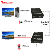 150m HDMI Extender over IP Cat5e/Cat6 With IR Romote HDMI H.264 Transmitter Receiver Network Extensor Extender For HDTV DVD PS3