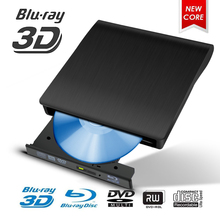 USB 3.0 Blu-ray 3D External DVD CD Drive Burner Ultra-thin CD/DVD-RW Burner Writer Player Optical Drive For Laptop PC Windows dvd player and drive cleaner kit