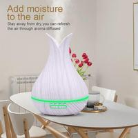 400ml Electric Air Humidifier Home Ultrasonic Lamp Timing Purifier Essential Oil Aroma Diffuser Remote Control & Manual
