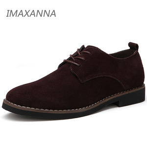 IMAXANNA Flats Shoes Spring Oxfords Suede Genuine-Leather Lace-Up Male 48 Big-Size Men