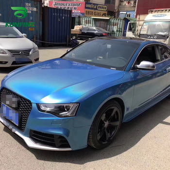 Car Styling Wrap Laser blue Car Vinyl film Body Sticker Car sticker With Air Free Bubble For Motorcycle Car Tuning Parts