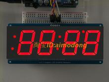 """Rot 1,2 """"4 Digit 7 Sieben Segment LED Display Uhr IIC zeit uno r3"""