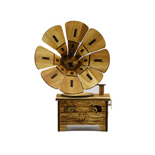 Kids Musical Instrument Toys Creative Gramophone Wooden Boxes Wood Retro Crafts for Birthday Gift Vintage Toy