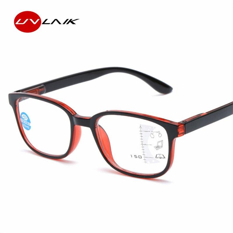 UVLAIK Blue Light Blocking Reading Glasses Men Progressive Multifocal Glasses Women Near Far Sight Diopter Eyeglasses for Reader blue light blocking glasses