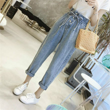 Spring Summer Women High Waist Denim Pants Femme Trousers Female Boyfriend Jeans Casual Loose Straight Jeans Plus Size 5XL summer casual high waist denim boyfriend jeans femme for women loose long pants plus size vaqueros mujer fashion 2017 clothes