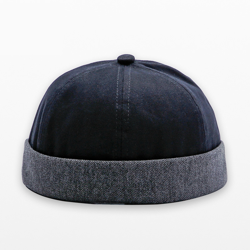 Fashion Miki Caps Men Fisherman Beanies Cotton Round Hat Autumn Spring Winter Turn Up Retro Sailorcap Brimless Women Caps