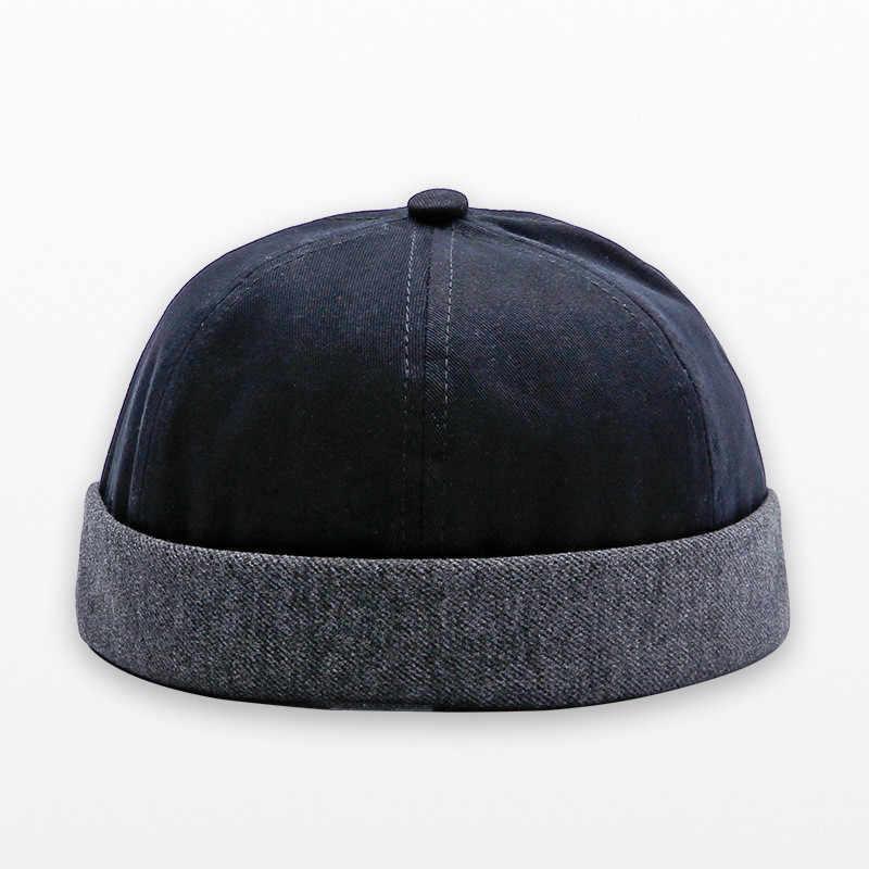 79738b12 Fashion Miki Caps Men Fisherman Beanies Cotton Round Hat Autumn Spring  Winter Turn Up Retro Sailorcap