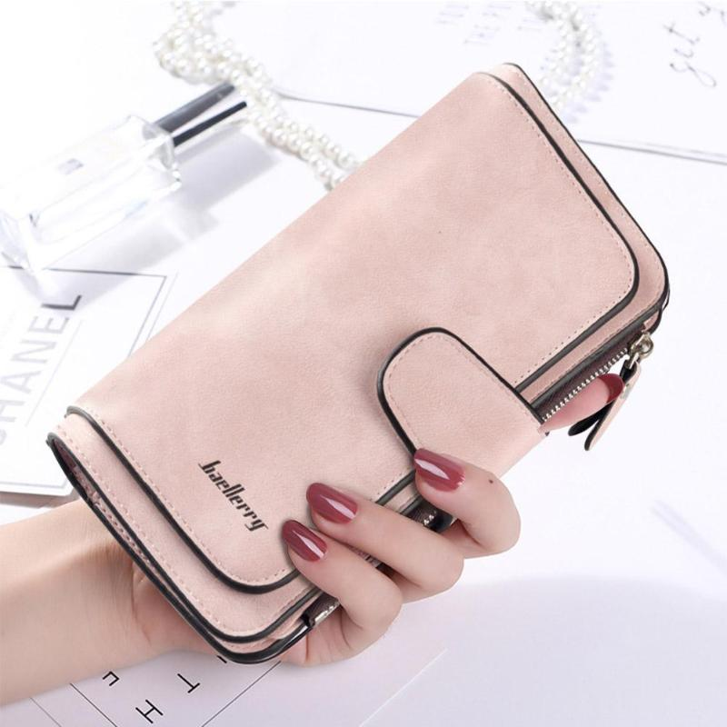 Fashion Clutch Long Wallet Women PU Leather Zipper Coin Purse Daily Money Card Holder Wallet