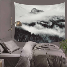 Waterfall Mountain Scenery Printing Wall Hippie Tapestry Polyester Fabric Home Wall Decoration  LZU14